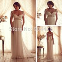 Elegant V Neck Wedding Dresses Cap Sleeve 2014 Women Bridal Gowns Open Back vestido de noiva SH16