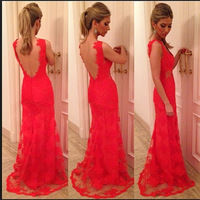 Free shipping Newest high class backless sweetheart Prom dress Dresshaute couture SH18