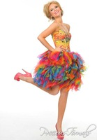 Hot Sale 2014 Beading Sweetheart  Homecoming Dresses Teris colorful homecoming gown prom dresses 2014 Summer Short Dress