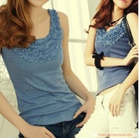 Sexy Women 's Knitted Lace Spaghetti Strap Sleeveless Tank Top Shirt Vest Blouse