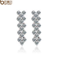 Stud earring earrings aaa zircon elegant female