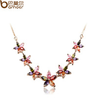 Zircon crystal necklace female short design fashion jewelry birthday gift