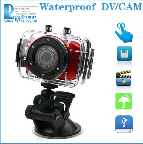 New 1080P Full HD Sports DVR Helmet Waterproof Action Camera Sport Outdoor Camcorder DV Hot Digital Video Camera, Free Shipping(China (Mainland))