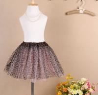 2014 New Retail 2-6 Years Lovely Fluffy Chiffon Baby Girls Skirts Children Tutu Skirt Princess Dance Party Tulle Skirts