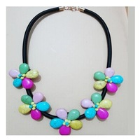 Min order is $9 (CAN MIX) Bohemia chain necklace brief paragraph flowers Flower necklace XL620