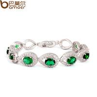 Classic emerald bracelet aaa zircon bracelet 18k platinum female bracelet