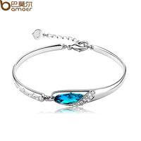 Exquisite bracelet, navy / blue color Austrian crystal bangle bracelet women