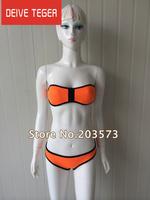 (DEIVE TEGER )2014 Women's fashion triangl Neoprene Bikinis New Arrival sexy push up Neoprene SWIMSUIT Set Free shipping N02