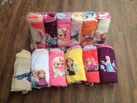 2014 Sale Character Cotton Polyester Cueca Next Frozen Briefs Kids Underwear Calcinha Infantil Girls Children Free Shipping
