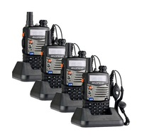 4pcs/lot BaoFeng UV-5RA 136-174/400-480MHz Dual-Band DTMF CTCSS FM ham 2 way radio with free earpiece