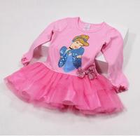 4 designs! kids girl dress summer snow white dress children's clothing cartoon minnie mouse dresses 2014 new
