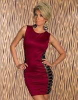 Free Shipping Clubwear Women's Fashion Sexy Mesh Patchwork Bodycon Dress
