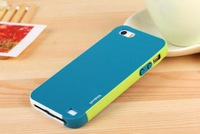 Zenus Walnutt Color Shock Silicone+ PC Shockproof Cover Case For Apple iPhone 5 5S  + MOQ 1PC  Freeshipping