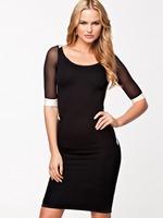 Free Shipping Clubwear Women's Fashion Sexy Sheer Mesh Backless Bodycon Dress