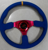 Free Shipping 2014 Hot matte simulated leather steering wheel / car steering wheel / racing wheel