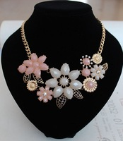 Min order is $10(mix order) 2014 new arrived Jewelry Fashion Women Flower  Statement Collar Pendants Choker for women XL616