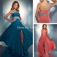 Fast shipping Newest Customized Sweetheart high class sleeveless Beaded Evening dress SH29