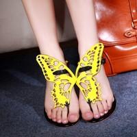 sophia webster celebrity women's sexy shoes woman cute flip flops bowtie fashion women flats bow luxury designer Free Shipping