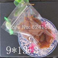 9x13+3cm Stand Zip Lock Packing Bag Transparent PET/PE laminated Resealable Bags 100pcs/lot zipper bags multi-used packing