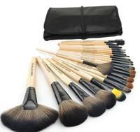 2014 HOT Sale Professional 24 pcs Makeup Brush Set tools Make-up Toiletry Kit Wool Brand Make Up Brush Set Case free shipping