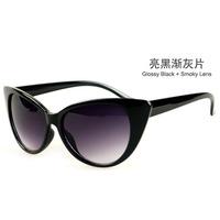 2014! Black Beautiful Shades!Cateyes Vintage Inspired Fashion Mod Chic High Pointed Sunglasses Smoky Lens sunglasses eyewear!