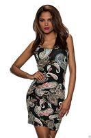 Free Shipping Clubwear Women's Fashion Sexy Mesh Print Bodycon Dress