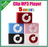 10pcs/Lot Mini C keys Card Clip MP3 in 5 Mixed Colors Support 2GB 4GB 8GB Micro TF Card Free Shipping