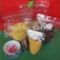 10x15+3cm Stand Storage Bag Transparent PET/PE laminated Resealable stand Bags food zipper bag 100pcs/lot