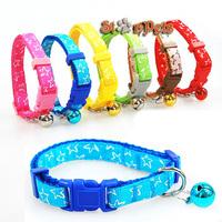 Nylon Stars Print Dog Puppy Cat Collar Cute Print Variety of Colors 1.0/1.5/2.0cm Width