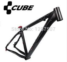 Free shipping CUBE LTD Anode sandblasted black Aluminum alloy MTB Mountain bike frame bicycle frame 26*16/18 inch 1650g parts(China (Mainland))