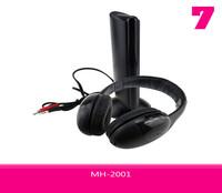 Headphone 5 in 1 Hi-Fi Wireless Headset MH-2001With Mega Bass Fashion High Quality Free Shipping 30pcs/lot