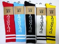24pcs=12pair 5 Colors Cotton Pyrex vision 23 ayumi GD thicken CHB Harajuku Skateboarding Stripe outdoors Sport Socks 24pcs/lot