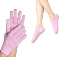 1 Pair of socks+1 Pair of gloves CPAM SPA Gel Moisturizing Gloves and Socks For Hand and Feet Free Shipping