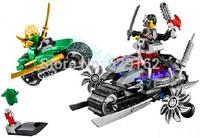 Free Shipping! Bela Phantom Ninja Series, 10220 Super Bo Attacks, Green Ninja 70722, Children DIY Building Block Toys.