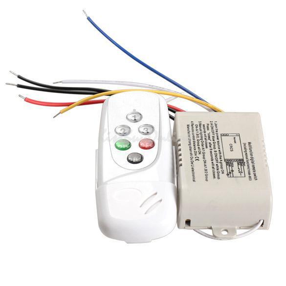 220-240V Wireless 3 Ways On/Off Digital Remote Control Switch LED Lights Lamp Remote Control Switch BHU2(China (Mainland))