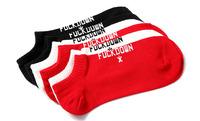 Retail Cotton COMME des FUCKDOWN SOCKS thin style summer plantlife skateboarding outdoors sport anklet socks 3pair/lot
