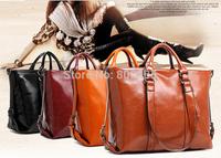 retail women shoulder handbag lady wax oil leather fasional bags ,woman hand bag ladies vintage handbags