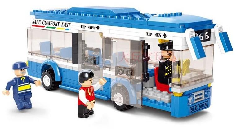 Plastic Building Blocks sets 235pcs City bus DIY Enlighten bricks toys Compatible with lego educational toys(China (Mainland))