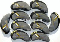 Rbladez Golf Irons headcover with Numbers printed Grey/black 10pcs/set rocketbladez irons head covers 10pcs/set