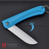 Blue 3.2''inch 6Pcs/Lot free shipping Timhome kitchen knives cooking tools home folding fruit knife ceramic knife ceramic knives