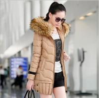 NAIULA New 2014 Plus Size Fashion Down & Parkas Winter Coat Women Ladies' Slim Long Design Cotton Coat Fur Collar Parkas AS1233