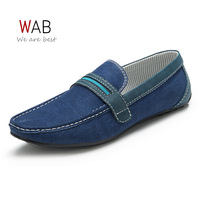 2014 New Fashion Man Doug shoes Blue The Public Leisure Man Flat Shoes Korean Style Mocassin Shoes For Men HS-4-44