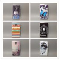 wholesale 10pcs/lottransparent side Multi species Painting Hard Plastic Phone Case  FOR LG Optimus L7II p710 p713 Free shipping