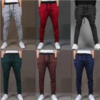 new 2014 jogger pants men,hip hop harem pants,men's banana dance pants,sport low drop crotch sweatpants Pants for men,X62,28-35