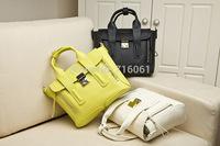 2014 famous desinger genuine leather handbag 3.1 Pashli Satchel with Strap fluorescent Middle little monster cute shoulder bag