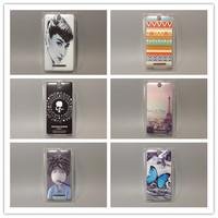 wholesale 10pcs/lottransparent side multi species Painted Hard Plastic Phone Case For Sony Xperia E dual C1605 c1604 C1504 c1505