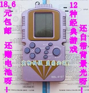 Game machine handheld belt blue background light game machine 18.6 Game Console nes(China (Mainland))