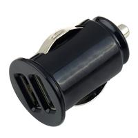 1pcs USB Mini Bullet Power Car Charger Dual 2 Port Adapter Wholesale