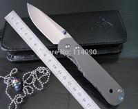 Freeshipping New Arrival 100% Kevin John brand Sebenza style S35VN steel blade Titanium Alloy handle 17.5CM Folding Knife