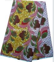 2014 Free shipping !    New arrival african super wax  cotton hollandais  wax fabric  LFHL01